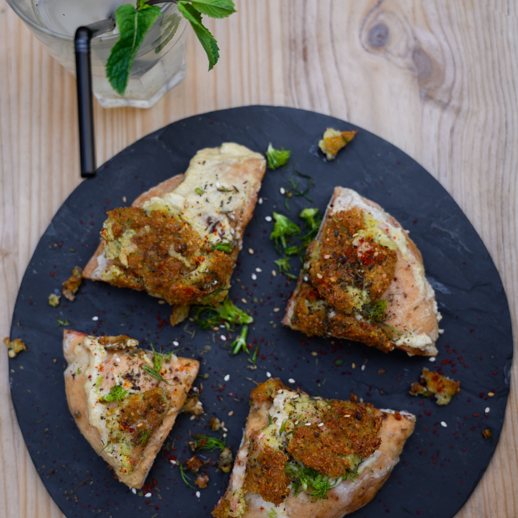 pitza falafel houmous lyon